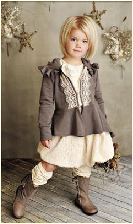 "Persnickety Clothing ""Vintage Woodland"" Cream Leg Warmers"